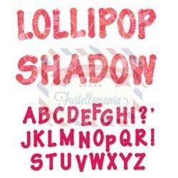 Fustella Sizzix Alfabeto Lollipop shadow maiuscolo