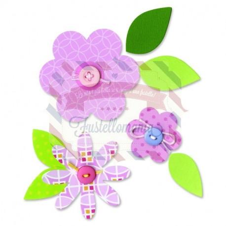 Fustella Sizzix Bigz Strati di fiori e foglie