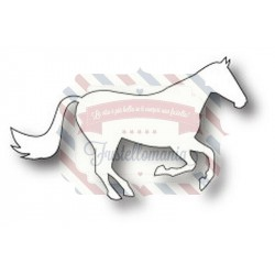 Fustella metallica PoppyStamps Galloping Stallion