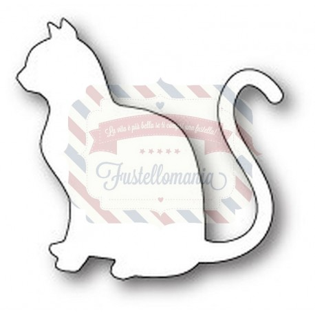 Fustella metallica PoppyStamps Graceful Cat