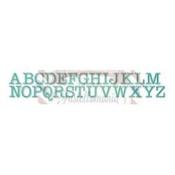 Fustella metallica Alfabeto Typewriter