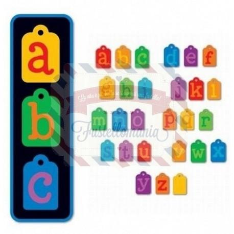 Fustella Sizzix Doodle Tag Alphabet Set Lowercase minuscolo