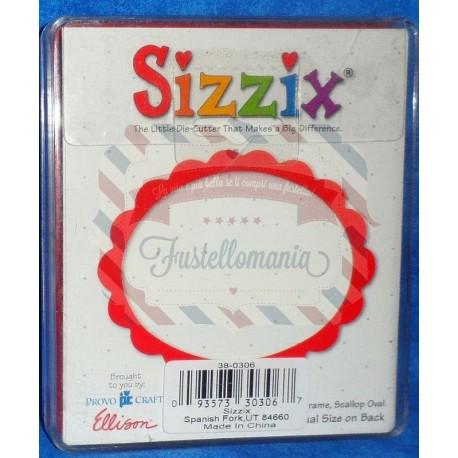 Fustella Sizzix Originals Cornice scallop ovale