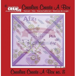 Fustella metallica Crealies Create a box Busta da lettera