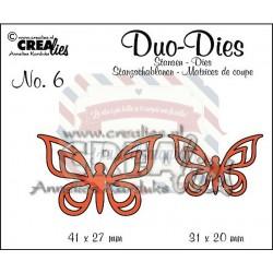 Fustella metallica Crealies Duo dies Farfalle