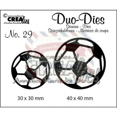 Fustella metallica Crealies Duo dies Palloni da calcio