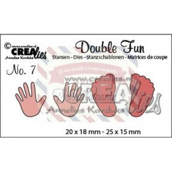 Fustella metallica Crealies Double fun mani e piedi