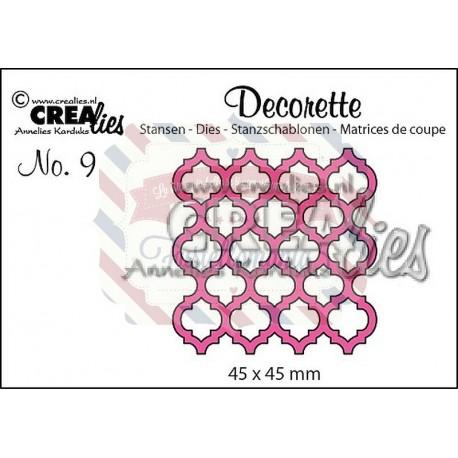 Fustella metallica Crealies Decorette nr 9