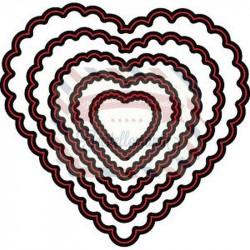Fustella metallica Marianne Design Die Cut stencil Scallop heart