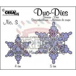 Fustella metallica Crealies Duo dies Snowflakes 3