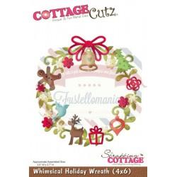 Fustella metallica Cottage Cutz Whimsical Holiday Wreath