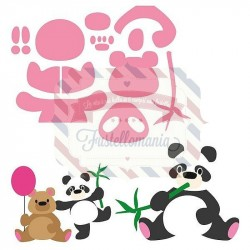 Fustella metallica Marianne Design Collectables Eline's panda & bear