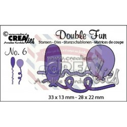 Fustella metallica Crealies Double fun 6