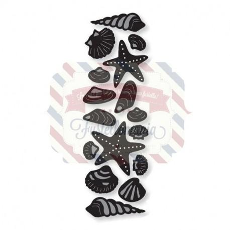 Fustella metallica Marianne Design Craftables Sea shell