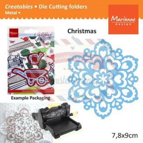 Fustella metallica Marianne Design Creatables Snowflake