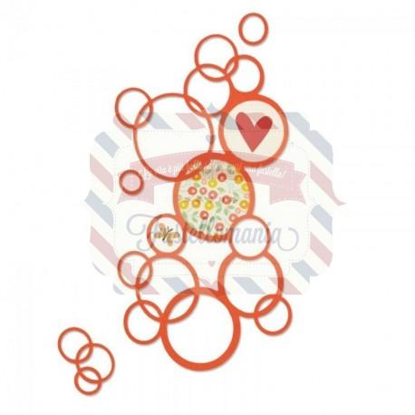 Fustella Sizzix Thinlits Bright bubbles
