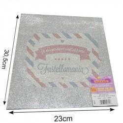 Fommy 2 mm glitterato silver 22x30 cm