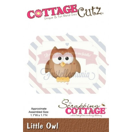 Fustella metallica Cottage Cutz Little Owl