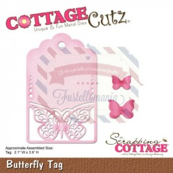 Fustella metallica Cottage Cutz Butterfly Tag