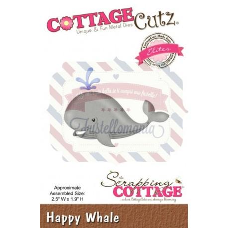 Fustella metallica Cottage Cutz Happy Whale