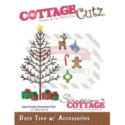 Fustella metallica Cottage Cutz Bare tree with accessories
