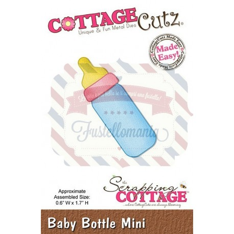 Fustella metallica Cottage Cutz Baby Bottle mini