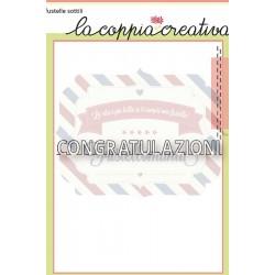 Fustella metallica Congratulazioni 3