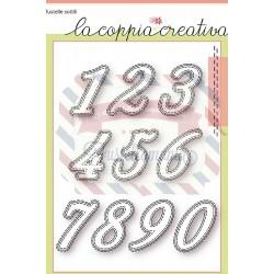 Fustella metallica Numeri cuciti