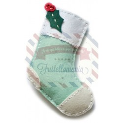 Fustella metallica Memory Box Plush Holly Stocking