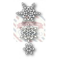 Fustella metallica PoppyStamps Madeleine Snowflakes