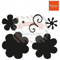Fustella metallica Marianne Design Craftables Flower set Fancy