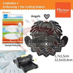 Fustella metallica Marianne Design Craftables Angel with Heart
