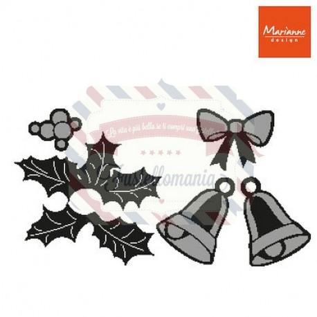Fustella metallica Marianne Design Craftables Christmas Bells