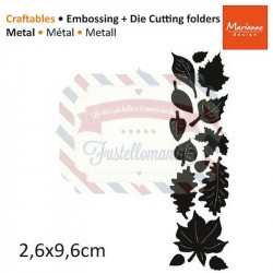 Fustella metallica Marianne Design Craftables Punch die autumn leaves