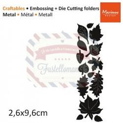 Fustella metallica Marianne Design Craftables Punch die autumn leaves