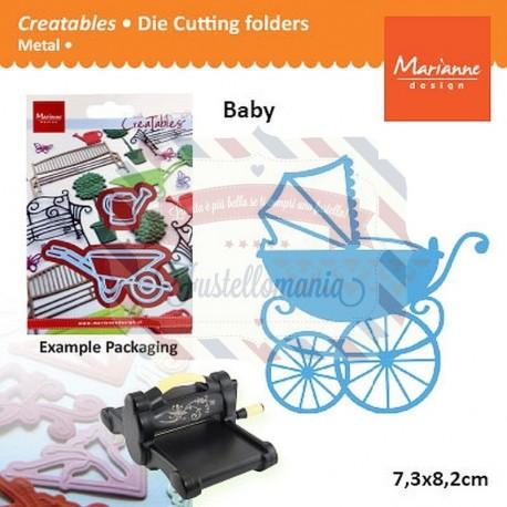 Fustella metallica Marianne Design Catables Eline Baby carriage