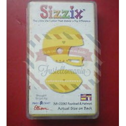 Fustella Sizzix Originals Yellow Elmetto da football e pallone