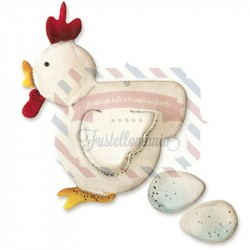 Fustella Sizzix Originals Gallina e uova