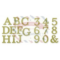 Fustella Sizzix Stampin Up Bigz Alphabet Typeset