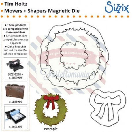 Fustella Sizzix Movers & Shapers Mini Wreath