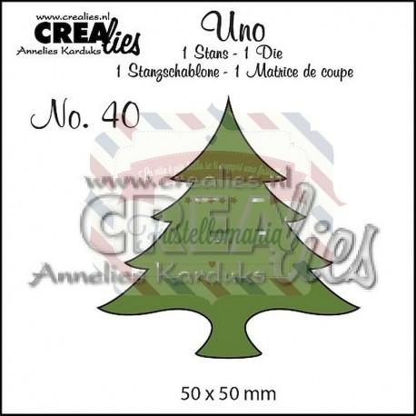 Fustella metallica Crealies Uno Albero Natale 40