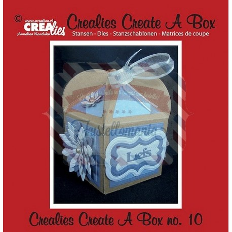 Fustella metallica Crealies Create a box 10