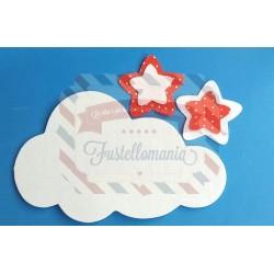 Fustella A4 Nuvola e stelle