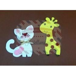 Fustella Gatto e Giraffa