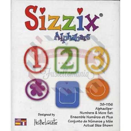 Fustella Sizzix Alphabars Alphaclips Numeri e segni