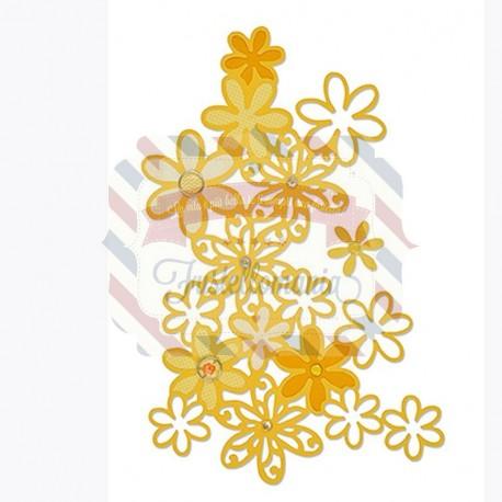 Fustella Sizzix Thinlits Drifting daisy