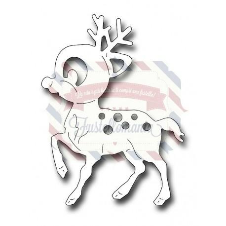 Fustella metallica Cute Rudolph