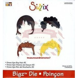Fustella Sizzix Bigz Dress Ups Boy Hair 2