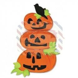 Fustella Sizzix Bigz Zucca Halloween con corvo e foglie