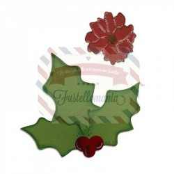 Fustella Sizzix Bigz Holly & Poinsettia